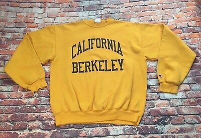 Vintage Champion Berkeley Sweater Large Yellow California 90s