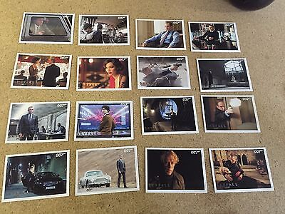 JAMES BOND Autographs + Relics SKYFALL  Lot of 16 Silver Parallel Base Cards