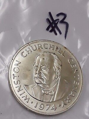 1974 Turks and Caicos Silver 20 Crowns Coin Centenary of Winston Churchill #3