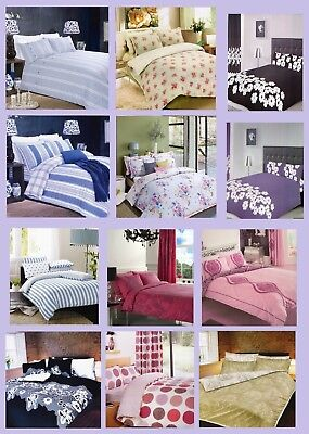 Duvet Cover With Pillowcase Quilt Cover Bedding Set King Size Luxury Poly-Cotton