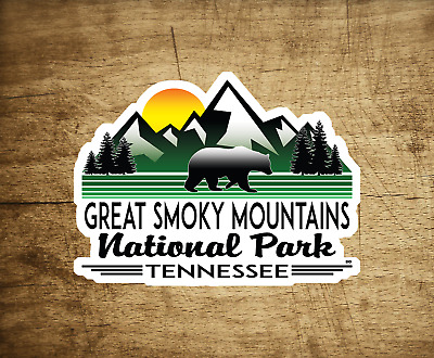 """Great Smoky Mountains National Park Tennessee MOUNTAIN Sticker Decal 4"""" x 3"""""""