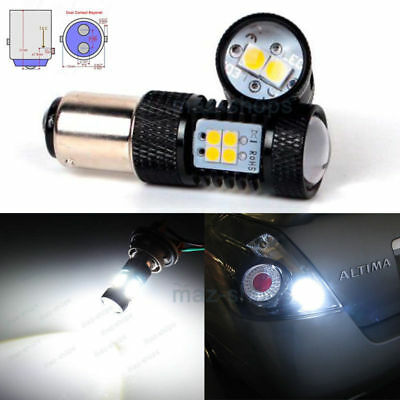 2x 6000K White 1157 High Power 16SMD LED Tail Brake Stop Lights Bulb BAY15D 12V