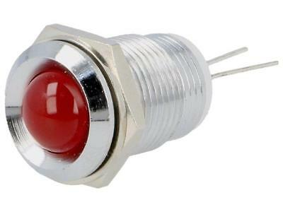 M.1092R Indicator LED recessed Cutout Ø14mm for PCB brass ØLED10mm MENTOR