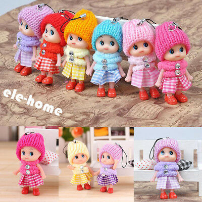 5Pcs Kids Toys Soft Interactive Baby Dolls Toy Mini Doll For Girls Cute Gift EH