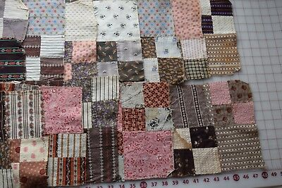 35 antique 1870-90 quilt blocks, Double 4 Patch, lots of beautiful prints!