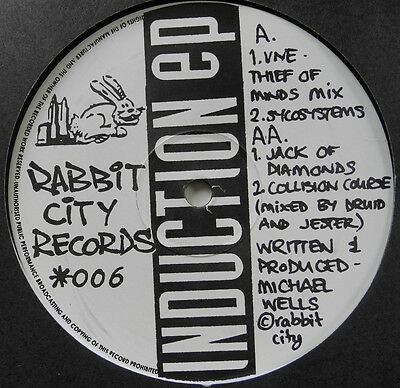 "12"" Uk**force Mass Motion - Induction Ep (Rabbit City Records '92)***22249"