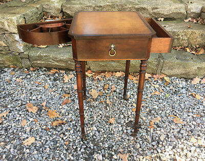 Beacon Hill Collection number 189 Georgian style lamp table w swing-out drawer