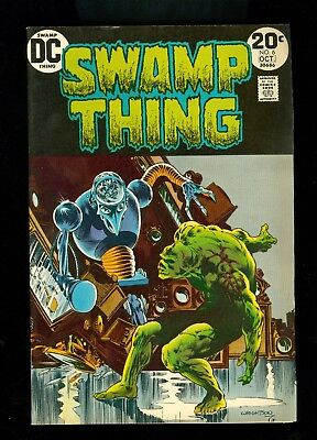 SWAMP THING #6 -- October 1973 --  Berni WRIGHTSON -- F/VF Or Better