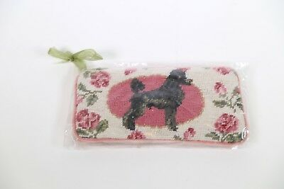 Great Gift! Poodle    Il Fiore       Needlepoint Dog Glasses Pouch