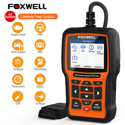 FOXWELL OBDII Diagnostic Scan Tool For BMW ABS SRS Oil Service Reset Code Reader