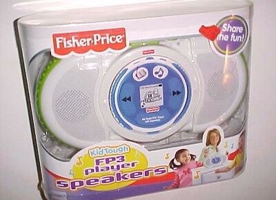 Fisher-Price Kid Tough FP3 Player Speakers White K5365 New NIB