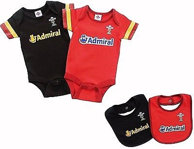 Wales Rfu Rugby Babies Body Pram Suit Short Sleeve Baby Grow Vest World Cup Gift