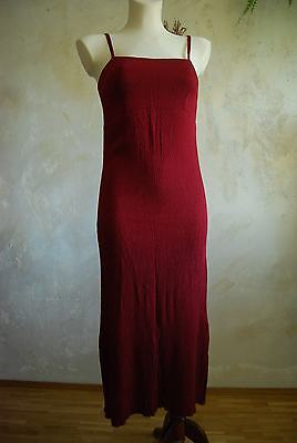 vintage crimson red textured maxi tube bodycon dress M