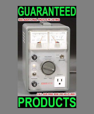 Eico 1078 Dual Metered Variac Variable Ac Power Controller Equipment Tester >New