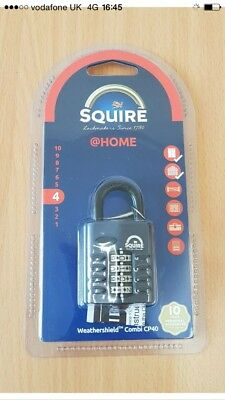Squire 40mm Recodable Combination Padlock Cp40.