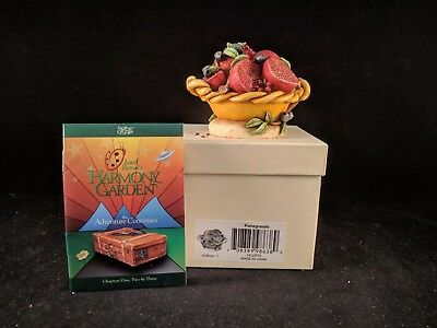 "Harmony Kingdom Lord Byron's Harmony Garden ""POMEGRANATE"" MIB SIGNED"