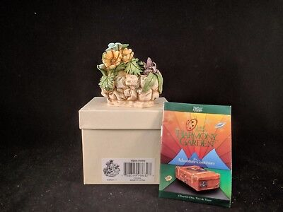 "Harmony Kingdom Lord Byron's Harmony Garden ""ALPINE FLOWER"" MIB SIGNED"