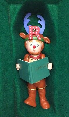 """Vintage 1986 Midwest Mary Engelbreit Pageant Ornament """"r"""" Reindeer"""