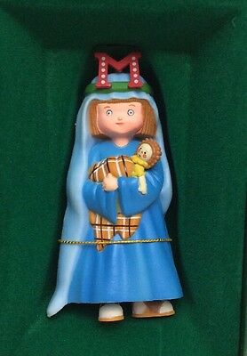 """Vintage 1986 Midwest Mary Engelbreit Pageant Ornament """"m"""" Mary Nativity"""