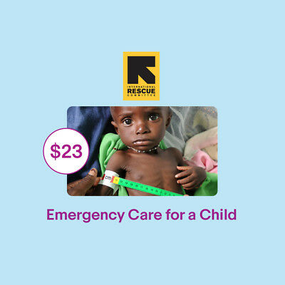 $23 Emergency Care for a Child IRC Charitable Donation
