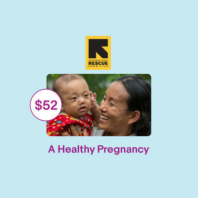 $52 A Healthy Pregnancy IRC Charitable Donation