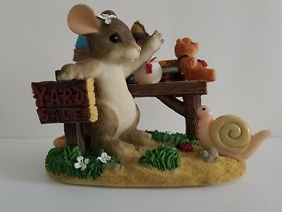 """Charming Tails Mouse figurine 83/810 """"Friendship Is Always A Great Bargain"""""""