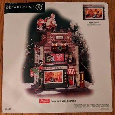 Coca-Cola Soda Fountain Department 56 Christmas in the City Series CIC 56.59221