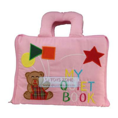 My Quiet Book Fabric Cloth My Quiet Book Pink Learning Activity Toy Gift