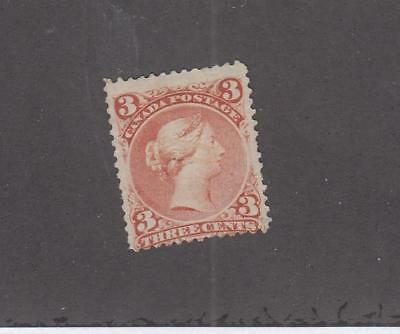 CANADA  (LOT MK755)  #25i   F  3cts  LARGE QUEEN ORANGE RED  CAT VALUE $20