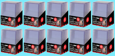 100 Ultra Pro 3x4 260PT SUPER THICK TOPLOADERS NEW Sports Card Rigid Holder Case