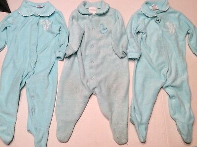 Carter's Vintage Pajamas Baby Terry Cloth Footed Mint Green Medium 12 to 17 lbs