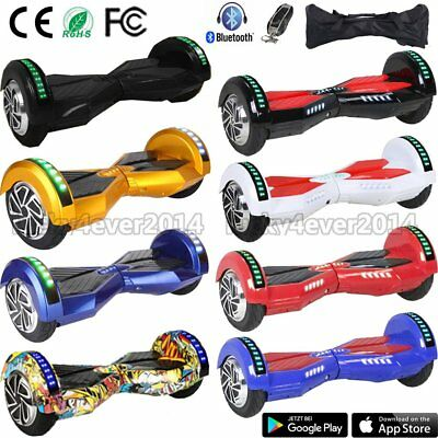 "8,0"" Zoll Bluetooth Hoverboard Self Balancing Scooter Elektroroller E-Skateboard"