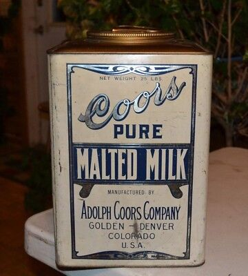 Large Coors Colorado Malted Milk Tin