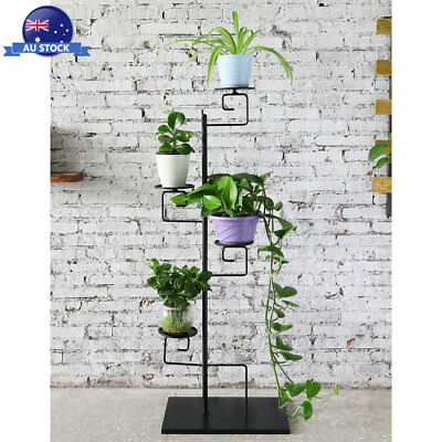 4 Tier  Metal Plant Flower Pot Stand Candle Holder Shelf Rack For Home Garden