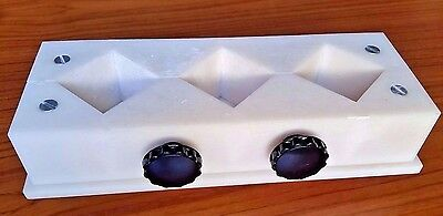 """Plastic Interlocking Mold - 2"""" Square 3 molds with Daka-Ware Knobs Candles/Soap?"""