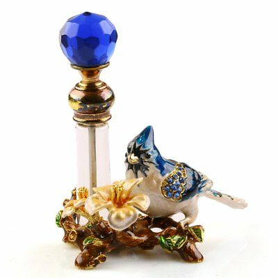 4ml Refillable Perfume Bottle Vintage Empty Metal Bird Glass Empty Container