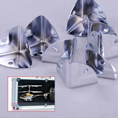 8pcs Metal Corner Wrap Angle Protectors  Brace for Wooden Case Box Chest Trunk