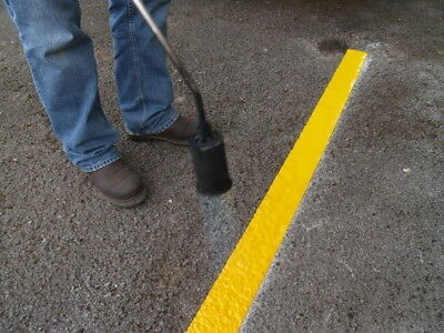 Yellow Line Road Thermoplastic marking 100 mm EXTRA NON SLIP10 METRES REFLECTIVE