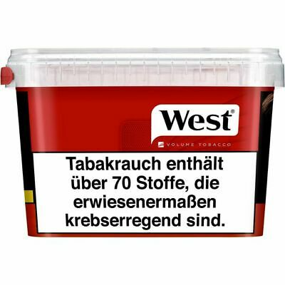 4 x West Red Mega-Box à 210 Gramm Zigarettentabak / Tabak