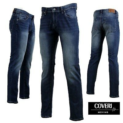Jeans Uomo COVERI MOVING CU02 Stone Washed Regular Fit Elasticizzato da GELSTORE