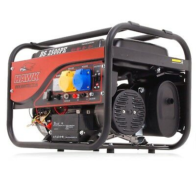 2.5kVA 2.5kW 2500w 6.5HP 110v 230v PETROL ELECTRIC SINGLE PHASE POWER GENERATOR