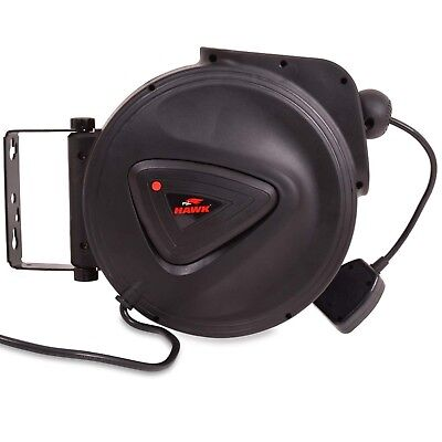 10m 230v RETRACTABLE EXTENSION LEAD ELECTRIC WALL MOUNT POWER CABLE SOCKET REEL