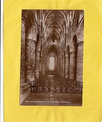 KIRKWALL ,  Nave  ,  ST  MAGNUS CATHEDRAL  , ORKNEY      ,  SCOTLAND  ( 7B )