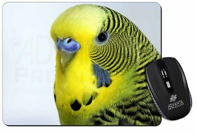 Yellow Budgerigar, Budgie Computer Mouse Mat Christmas Gift Idea, AB-51M