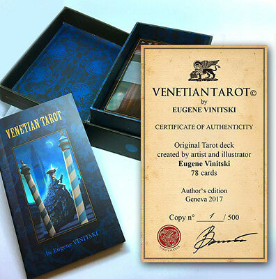 Venetian Tarot. 78 card deck gold gilded in the luxury box with booklet.