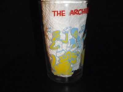 Vtg The Archies Having a Jam Session Glass Jar Drinking Glass 1970's Veronica