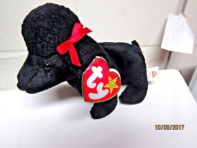 "ESTATE BUY!!   Ty Beanie Baby ""GIGI"" THE BLACK POODLE DOG  - MINT- RETIRED"