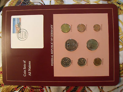 Coin sets of all nations Germany 1986 - 1988 UNC w/card 5 Mark 1987