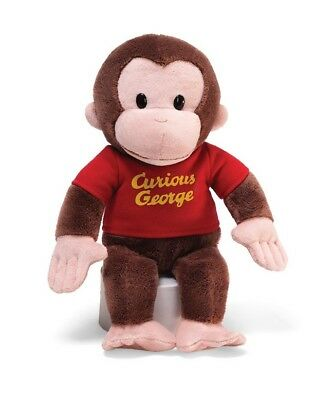 Gund 12'' Plush Classic CURIOUS GEORGE In Red Shirt ~NEW~