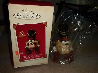 HALLMARK Keepsake 2003 TAZ AS THE NUTCRACKER Looney Tunes CHRISTMAS ORNAMENT